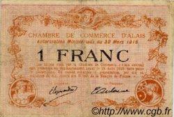 1 Franc FRANCE régionalisme et divers Alais, Nom Actuel :  Alès 1916 JP.004.09 TB