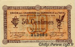 50 Centimes FRANCE régionalisme et divers ALBI - CASTRES - MAZAMET 1914 JP.005.01 TTB à SUP