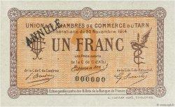 1 Franc FRANCE régionalisme et divers ALBI - CASTRES - MAZAMET 1914 JP.005.06 TTB à SUP