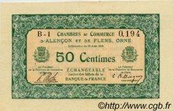 50 Centimes FRANCE régionalisme et divers Alencon et Flers 1915 JP.006.03 TTB à SUP