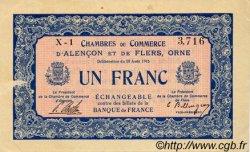 1 Franc FRANCE régionalisme et divers Alencon et Flers 1915 JP.006.04 TTB à SUP