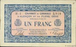1 Franc FRANCE régionalisme et divers ALENCON ET FLERS 1915 JP.006.04 TB
