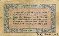 1 Franc FRANCE régionalisme et divers ALENCON ET FLERS 1915 JP.006.06 TTB à SUP