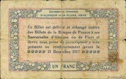1 Franc FRANCE régionalisme et divers Alencon et Flers 1915 JP.006.06 TB