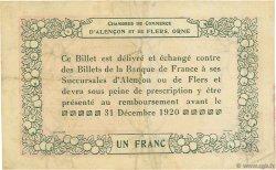 1 Franc FRANCE régionalisme et divers Alencon et Flers 1915 JP.006.10 TB