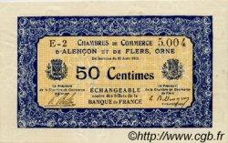 50 Centimes FRANCE régionalisme et divers ALENCON ET FLERS 1915 JP.006.12 SPL à NEUF