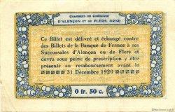50 Centimes FRANCE régionalisme et divers Alencon et Flers 1915 JP.006.12 TTB à SUP