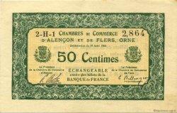 50 Centimes FRANCE régionalisme et divers ALENCON ET FLERS 1915 JP.006.16 SPL à NEUF