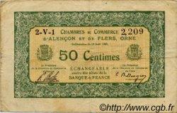 50 Centimes FRANCE régionalisme et divers ALENCON ET FLERS 1915 JP.006.16 TB