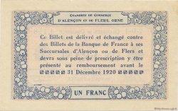 1 Franc FRANCE régionalisme et divers ALENCON ET FLERS 1915 JP.006.17 SPL à NEUF