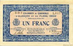 1 Franc FRANCE régionalisme et divers Alencon et Flers 1915 JP.006.17 TTB à SUP