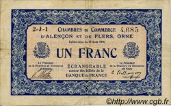1 Franc FRANCE régionalisme et divers Alencon et Flers 1915 JP.006.17 TB