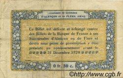 50 Centimes FRANCE régionalisme et divers ALENCON ET FLERS 1915 JP.006.18 TTB à SUP