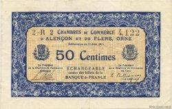 50 Centimes FRANCE régionalisme et divers ALENCON ET FLERS 1915 JP.006.21 TTB à SUP