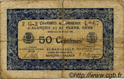 50 Centimes FRANCE régionalisme et divers Alencon et Flers 1915 JP.006.21 TB