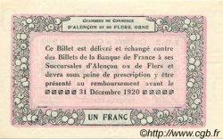 1 Franc FRANCE régionalisme et divers Alencon et Flers 1915 JP.006.22 SPL à NEUF