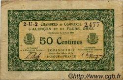 50 Centimes FRANCE régionalisme et divers ALENCON ET FLERS 1915 JP.006.23 TB