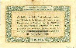 50 Centimes FRANCE régionalisme et divers ALENCON ET FLERS 1915 JP.006.25 TTB à SUP