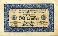 50 Centimes FRANCE régionalisme et divers Alencon et Flers 1915 JP.006.29 TTB à SUP
