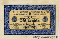 50 Centimes FRANCE régionalisme et divers Alencon et Flers 1915 JP.006.29 TB