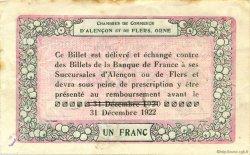 1 Franc FRANCE régionalisme et divers Alencon et Flers 1915 JP.006.30 TTB à SUP