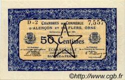 50 Centimes FRANCE régionalisme et divers Alencon et Flers 1915 JP.006.31 SPL à NEUF