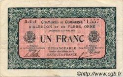 1 Franc FRANCE régionalisme et divers ALENCON ET FLERS 1915 JP.006.34 TTB à SUP