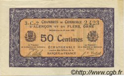 50 Centimes FRANCE regionalism and various Alencon et Flers 1915 JP.006.35 VF to XF