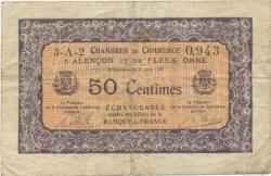 50 Centimes FRANCE régionalisme et divers ALENCON ET FLERS 1915 JP.006.35 TB