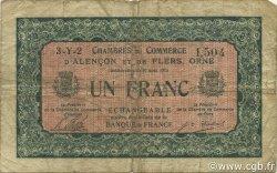 1 Franc FRANCE régionalisme et divers Alencon et Flers 1915 JP.006.36 TB