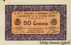 50 Centimes FRANCE régionalisme et divers ALENCON ET FLERS 1915 JP.006.37 TTB à SUP