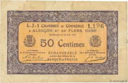 50 Centimes FRANCE régionalisme et divers ALENCON ET FLERS 1915 JP.006.37 TB