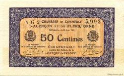 50 Centimes FRANCE régionalisme et divers ALENCON ET FLERS 1915 JP.006.39 TTB à SUP