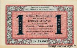 1 Franc FRANCE régionalisme et divers ALENCON ET FLERS 1915 JP.006.40 SPL à NEUF