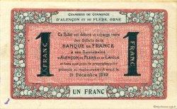 1 Franc FRANCE régionalisme et divers ALENCON ET FLERS 1915 JP.006.40 TTB à SUP