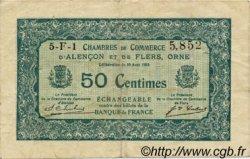 50 Centimes FRANCE régionalisme et divers Alencon et Flers 1915 JP.006.43 TTB à SUP