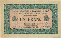 1 Franc FRANCE régionalisme et divers ALENCON ET FLERS 1915 JP.006.46 TTB à SUP