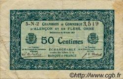 50 Centimes FRANCE régionalisme et divers ALENCON ET FLERS 1915 JP.006.47 TB
