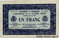1 Franc FRANCE régionalisme et divers ALENCON ET FLERS 1915 JP.006.48 TTB à SUP