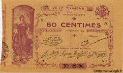50 Centimes FRANCE régionalisme et divers AMIENS 1914 JP.007.01 TTB à SUP