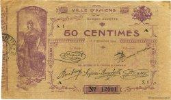 50 Centimes FRANCE régionalisme et divers AMIENS 1914 JP.007.01 TB