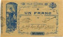 1 Franc FRANCE régionalisme et divers AMIENS 1914 JP.007.02 SPL à NEUF