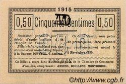 50 Centimes FRANCE régionalisme et divers Amiens 1915 JP.007.05 SPL à NEUF