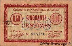 50 Centimes FRANCE régionalisme et divers AMIENS 1915 JP.007.05 TTB à SUP