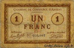 1 Franc FRANCE régionalisme et divers AMIENS 1915 JP.007.08 TB