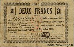 2 Francs FRANCE régionalisme et divers AMIENS 1915 JP.007.11 TB