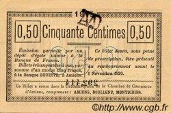 50 Centimes FRANCE régionalisme et divers Amiens 1915 JP.007.14 TTB à SUP