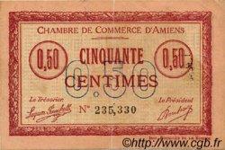 50 Centimes FRANCE régionalisme et divers AMIENS 1915 JP.007.14 TB