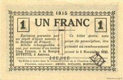 1 Franc FRANCE régionalisme et divers AMIENS 1915 JP.007.16 SPL à NEUF