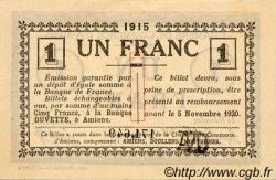 1 Franc FRANCE régionalisme et divers AMIENS 1915 JP.007.16 TTB à SUP
